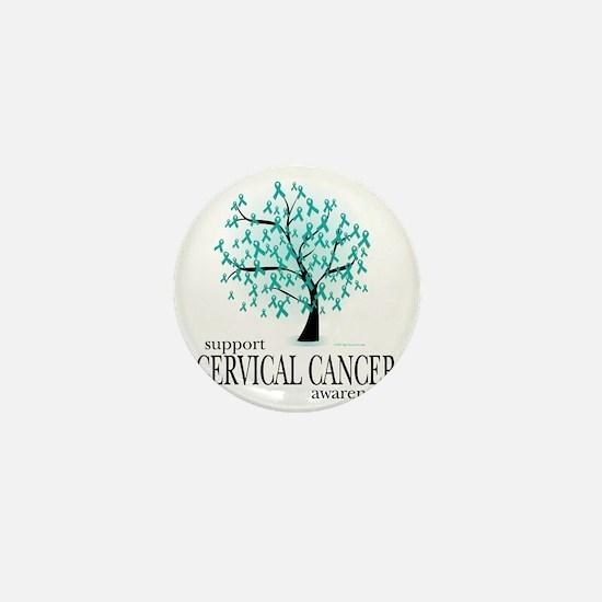 Cervical-Cancer-Tree Mini Button