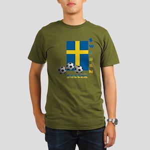 Sweden Soccer Power15 Color Organic T-Shirt