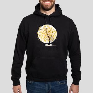 Childhood-Cancer-Tree Hoodie (dark)