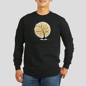 Childhood-Cancer-Tree Long Sleeve Dark T-Shirt