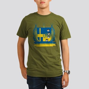 Sweden Soccer Shield3 Colored Organic T-Shirt