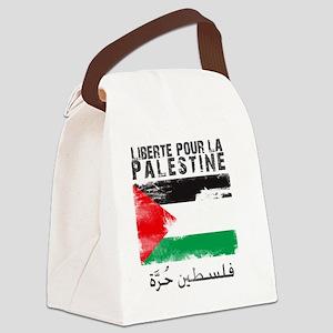 freepalestineengfren Canvas Lunch Bag