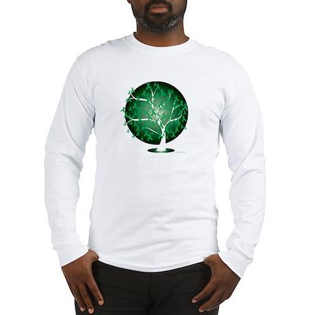 Cerebral-Palsy-Tree-blk Long Sleeve T-Shirt