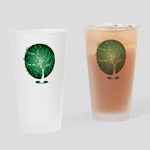 Cerebral-Palsy-Tree-blk Drinking Glass