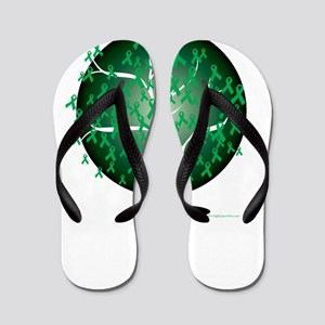 Cerebral-Palsy-Tree-blk Flip Flops