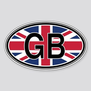 Great Britain Euro Oval Sticker