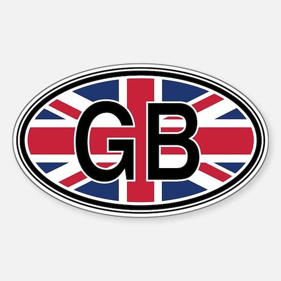 Great Britain Euro Oval Bumper Stickers