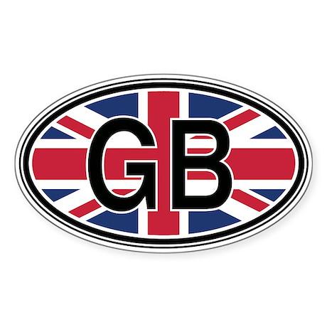 Great Britain Euro Oval Sticker