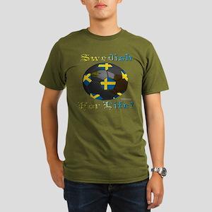 Swede Soccer Fan Organic Men's T-Shirt (dark)
