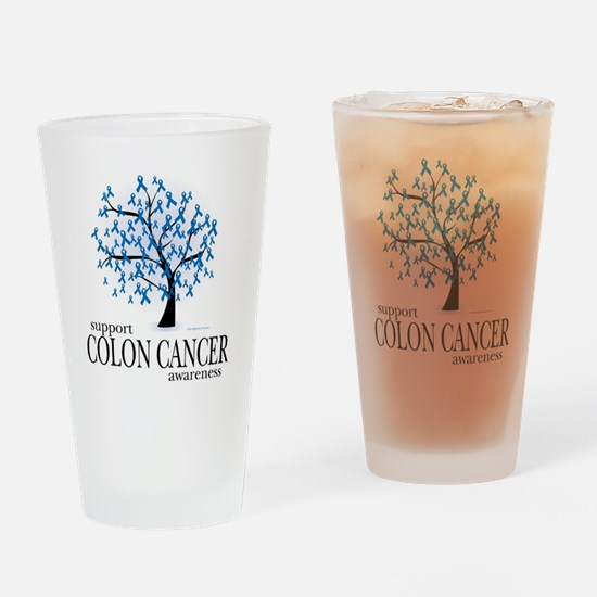 Colon-Cancer-Tree Drinking Glass