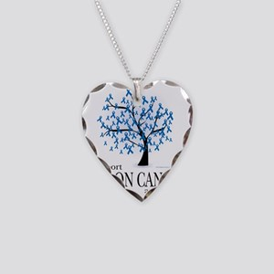 Colon-Cancer-Tree Necklace Heart Charm