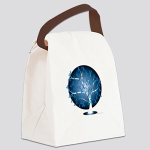 Colon-Cancer-Tree-blk Canvas Lunch Bag