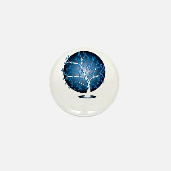 Colon-Cancer-Tree-blk Mini Button