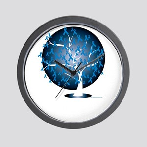 Colon-Cancer-Tree-blk Wall Clock