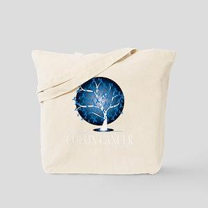 Colon-Cancer-Tree-blk Tote Bag