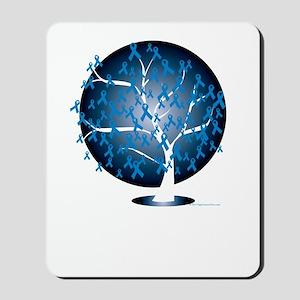 Colon-Cancer-Tree-blk Mousepad