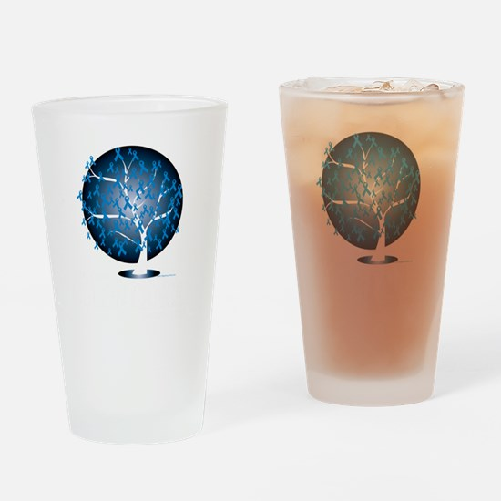 Colon-Cancer-Tree-blk Drinking Glass