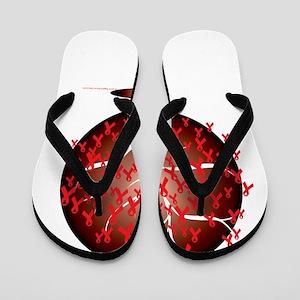 Heart-Disease-Tree-blk Flip Flops