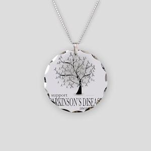 Parkinsons-Disease-Tree Necklace Circle Charm