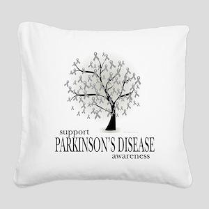 Parkinsons-Disease-Tree Square Canvas Pillow