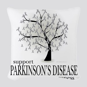 Parkinsons-Disease-Tree Woven Throw Pillow
