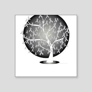 "Parkinsons-Disease-Tree-blk Square Sticker 3"" x 3"""
