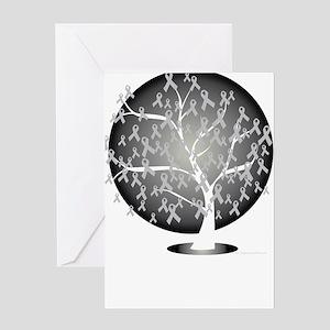 Parkinsons-Disease-Tree-blk Greeting Card