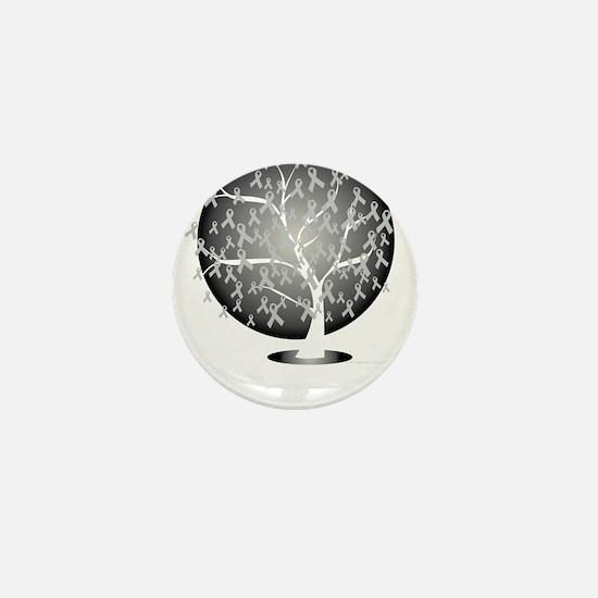 Parkinsons-Disease-Tree-blk Mini Button