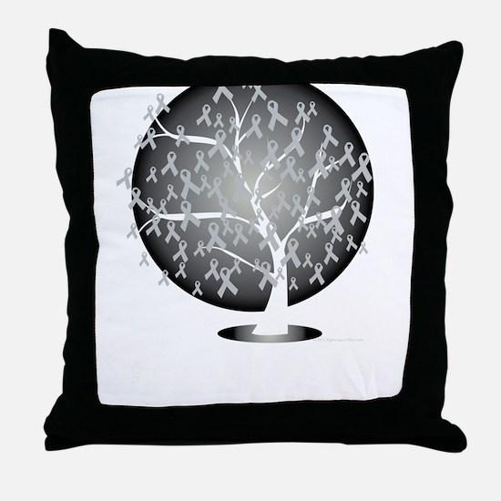 Parkinsons-Disease-Tree-blk Throw Pillow