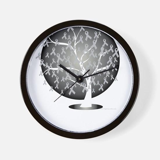 Parkinsons-Disease-Tree-blk Wall Clock