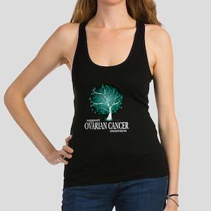 Ovarian-Cancer-Tree-blk Racerback Tank Top