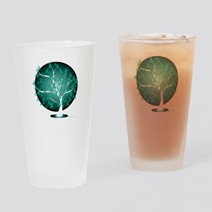 Ovarian-Cancer-Tree-blk Drinking Glass