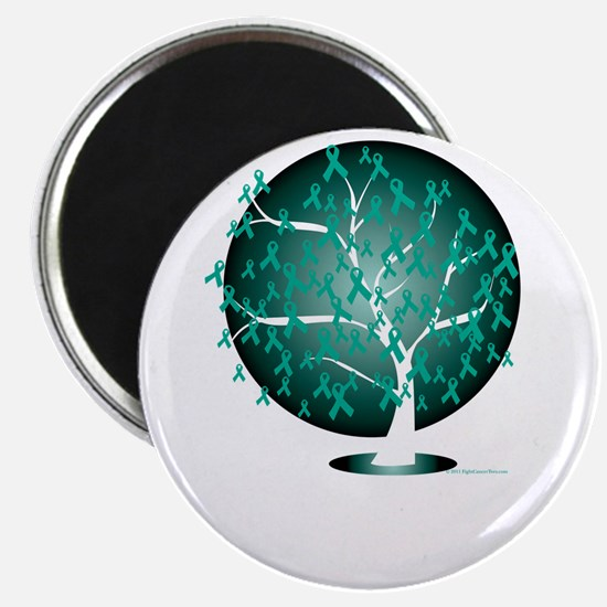 Ovarian-Cancer-Tree-blk Magnet