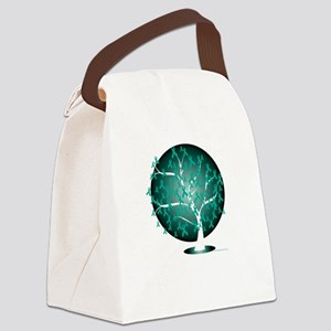 Ovarian-Cancer-Tree-blk Canvas Lunch Bag