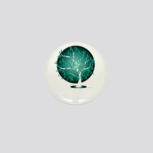 Ovarian-Cancer-Tree-blk Mini Button