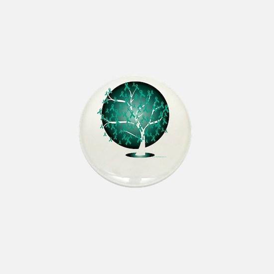 Ovarian-Cancer-Tree-blk Mini Button