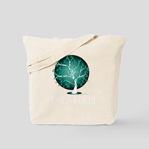 Ovarian-Cancer-Tree-blk Tote Bag