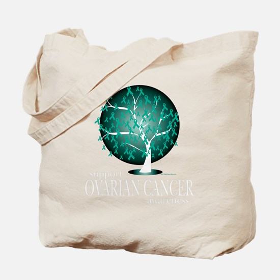 Ovarian-Cancer-Tree-blk Tote Bag