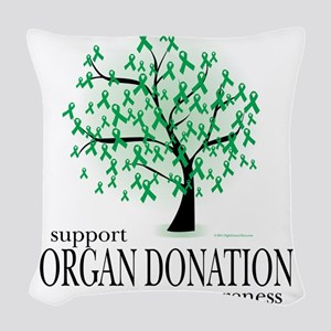 Organ-Donation-Tree Woven Throw Pillow