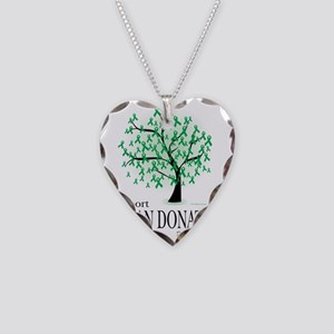 Organ-Donation-Tree Necklace Heart Charm