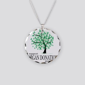 Organ-Donation-Tree Necklace Circle Charm