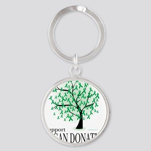 Organ-Donation-Tree Round Keychain