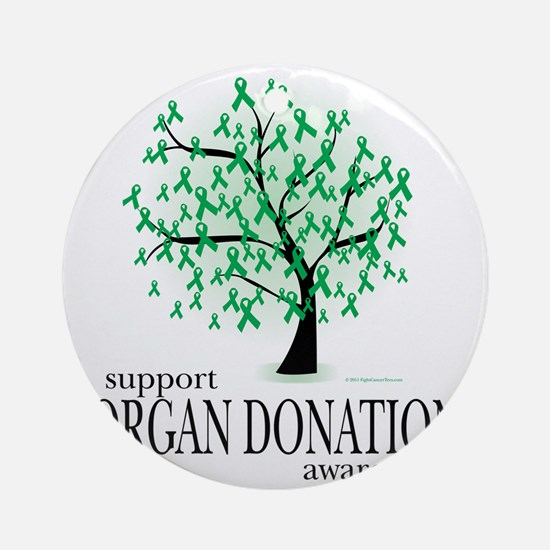 Organ-Donation-Tree Round Ornament