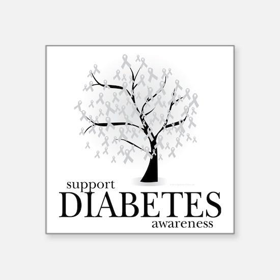 "Diabetes-Tree Square Sticker 3"" x 3"""