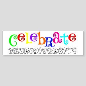 Awareness tee neurodiversity copy Sticker (Bumper)