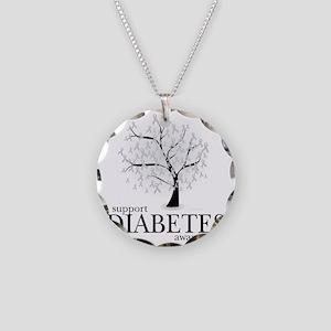 Diabetes-Tree Necklace Circle Charm