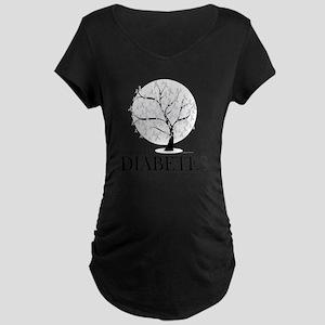 Diabetes-Tree Maternity Dark T-Shirt