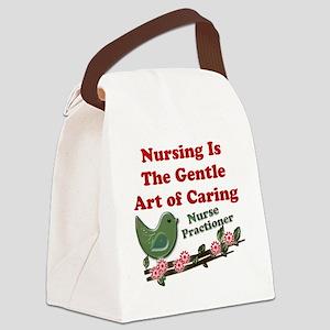 Nursing Nurse Prac. Green Canvas Lunch Bag