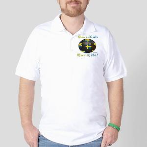 Swedish Soccer Fan 4 Life Golf Shirt