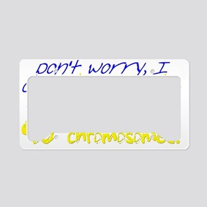 Awareness Tee I dont discrimi License Plate Holder